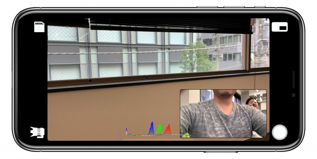 DoubleTakeピクチャーインピクチャー設定時の画面