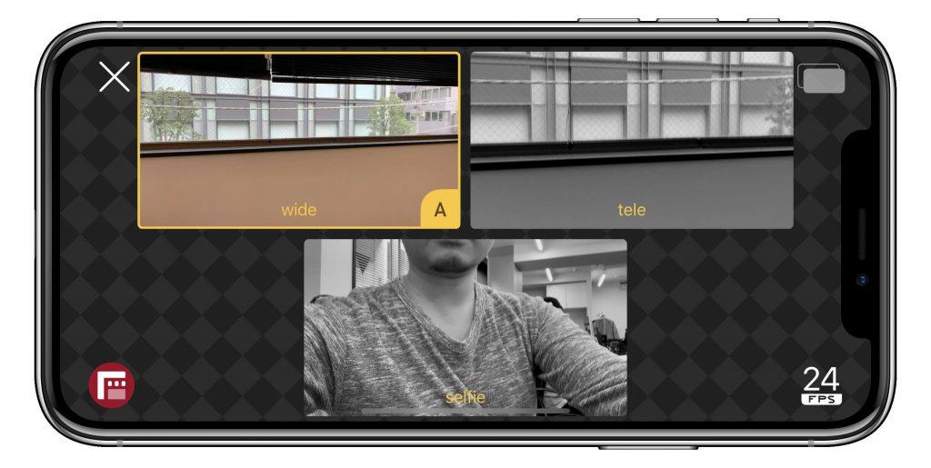 DoubleTakeカメラ選択画面