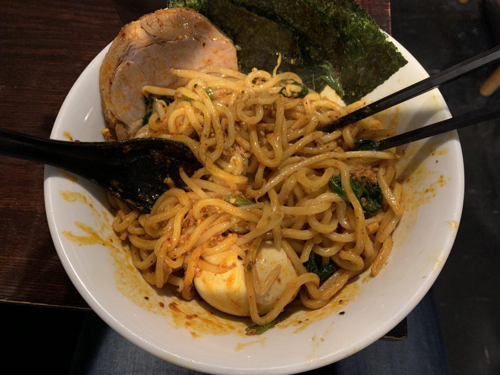 神田駅前 ほうきぼし 汁なし坦々麺
