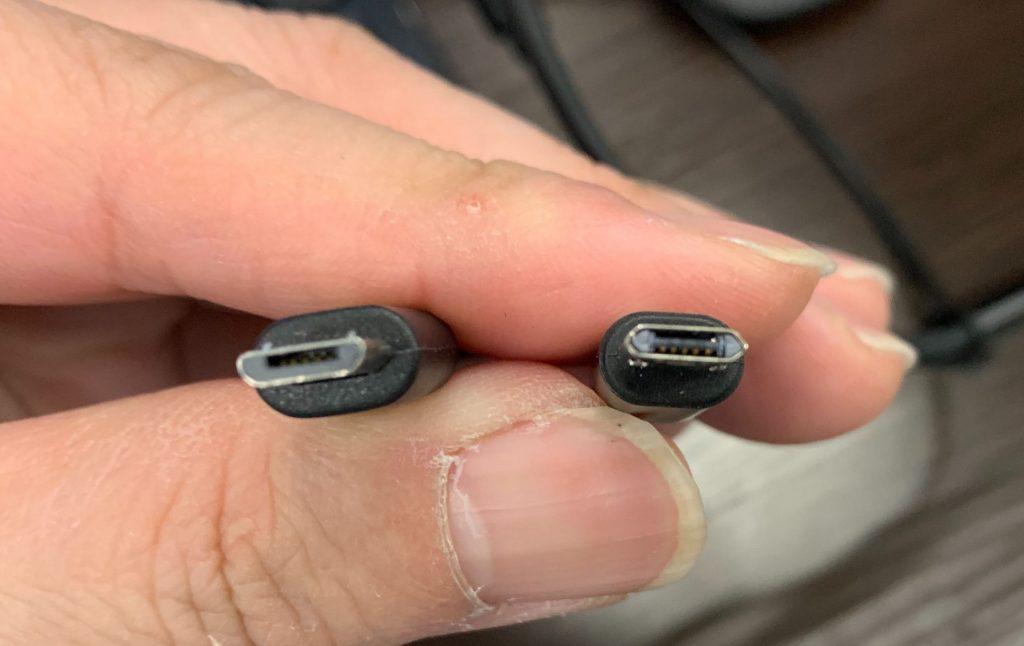 BIMOUR 巻取り式 充電ケーブル 3in1 急速充電対応 MicroUSB比較